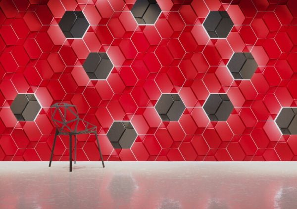 hexagon 3D gypsum tiles