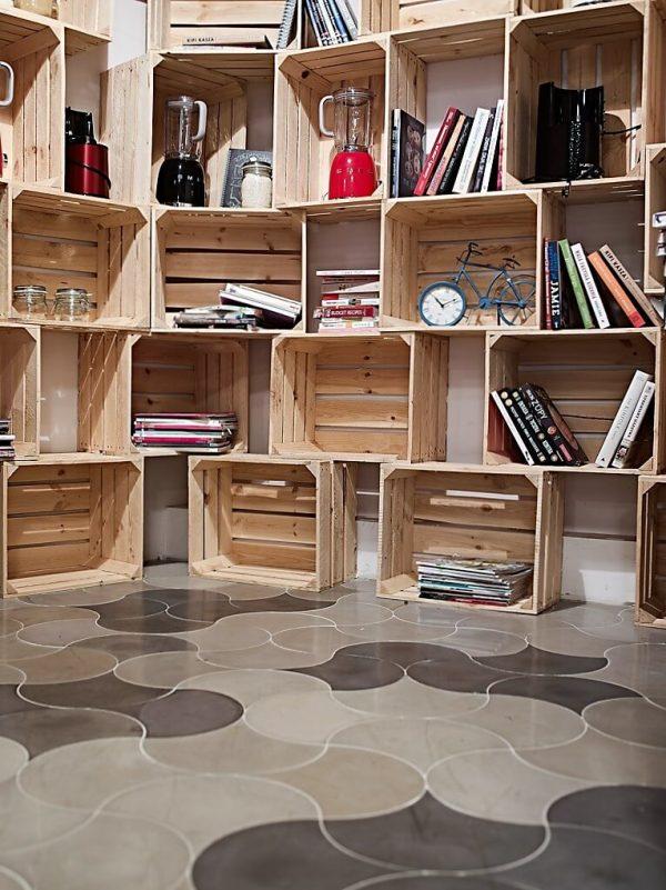 Serpente concrete tiles, grey and black concrete, concrete floor