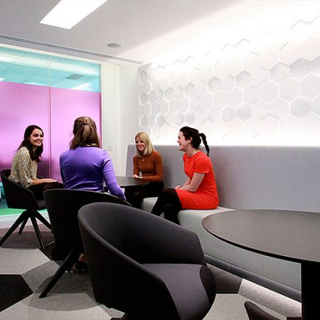 3d wall design, 3d wall panels, geometric wall panels, honeycomb design, modern office interior,