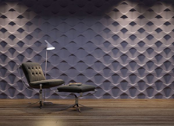 holes 3d wall panel
