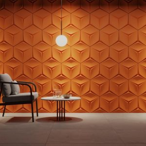 leaf hexagon gypsum 3d tiles