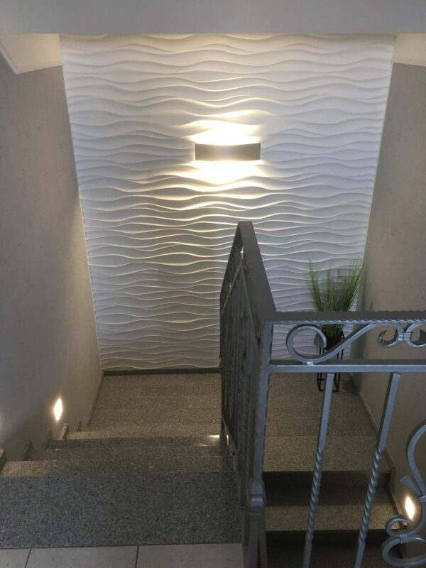 Ripple gypsum 3D panel