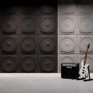 speaker gypsum 3D tiles