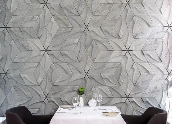 tzara concrete 3D tiles