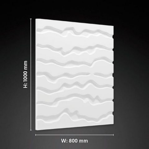vertical Lines 3D gypsum panel
