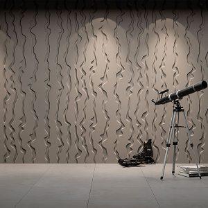 vertical Lines 3D gypsum panel