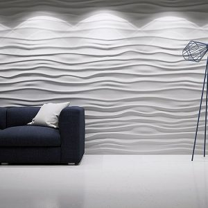 wave 3d gypsum panel