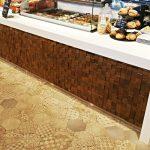 bar front, wooden bar