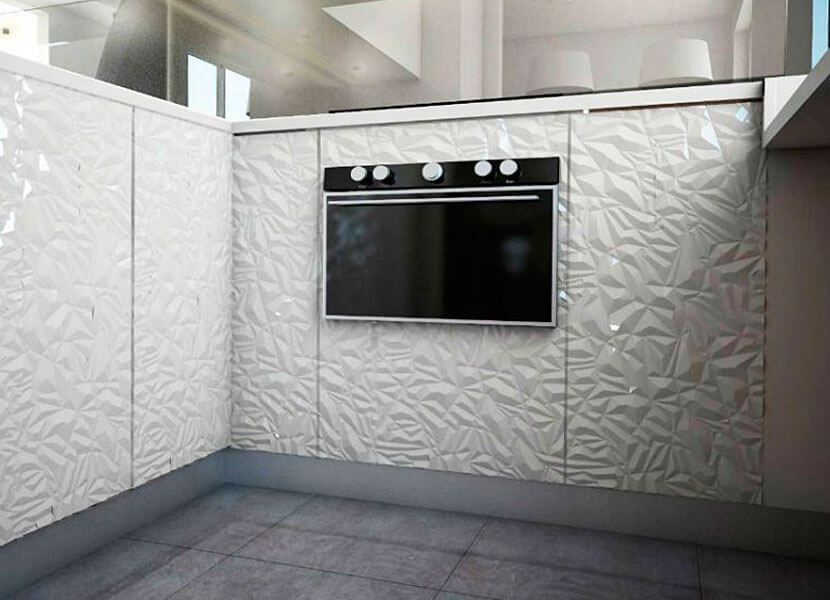 MDF 3D kitchen fronts