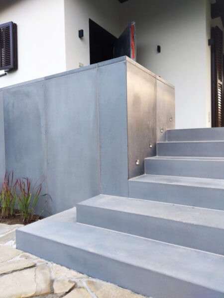 Outside concrete stairs I