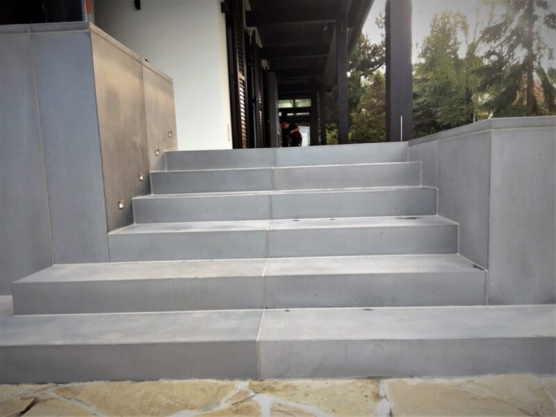 Outside concrete stairs II