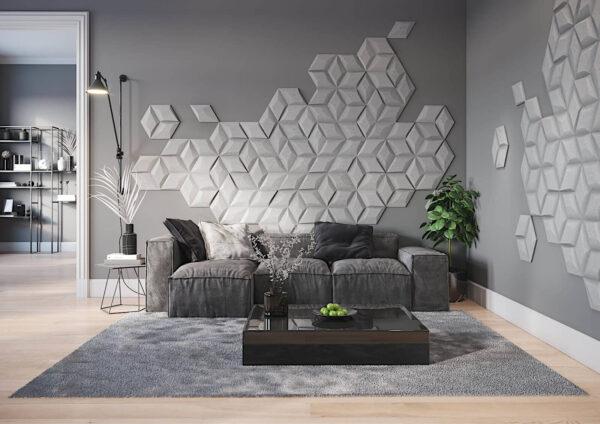 Diamante concrete 3D tiles