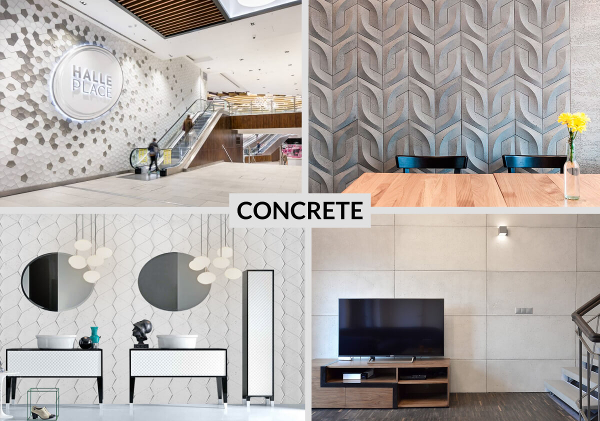 Concrete tiles are made of GRC concrete what's makes them durable; fire, water and frost resistance.